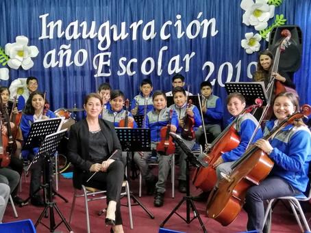 Orquesta Sinfónica Escolar de Traiguen  Inaugura año Escolar 2019