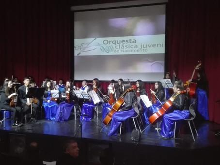 Emocionante Concierto Orquesta Sinfónica Escolar de Traiguen  en Nacimiento