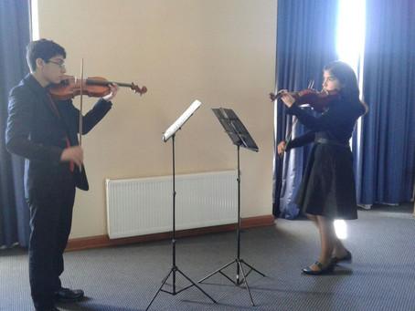 Dúo de Violines se presenta en Actividades del Gobierno Regional Bío Bío