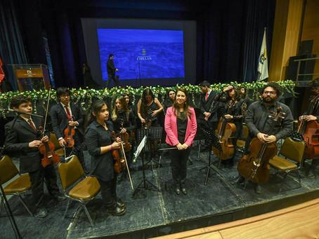 Orquesta Sinfónica Juvenil  Claudio Arrau León en 439 Aniversario Ciudad de Chillán