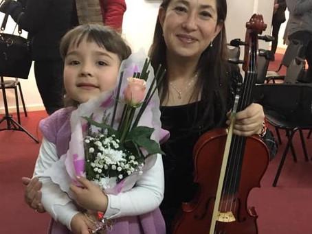 Concierto  Jóvenes violinistas Academia violín Profesora Carmen Gloria Mella Mora