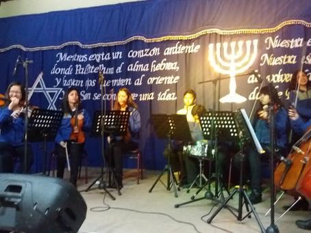 Orquesta de Cámara  de Traiguen se luce en Bienvenida de la Comunidad Israelí.-