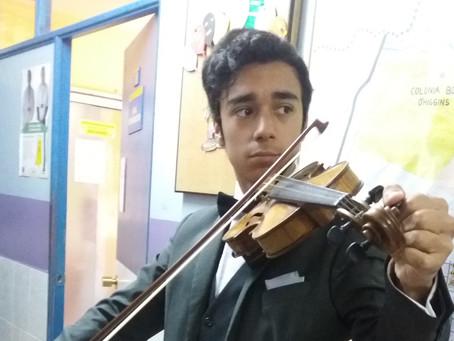 Concertino de  Orquesta Juvenil Municipal Claudio Arrau en Aniversario Cesfam Violeta Parra