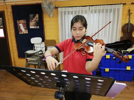 Violinista Catalina Orellana obtiene Beca perfeccionamiento en Santiago