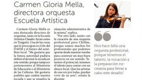 Violinista y Artísta, Carmen G. Mella Mora, en temas culturales 2021