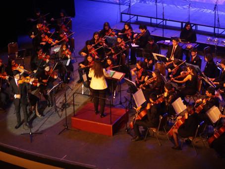 Gran debut Orquesta Sinfónica Juvenil Municipal Claudio Arrau de la Escuela Artística en Gala de Dan