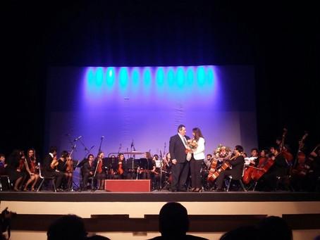 A Teatro  lleno  Concierto Orquesta Sinfónica Juvenil Municipal  Claudio Arrau León