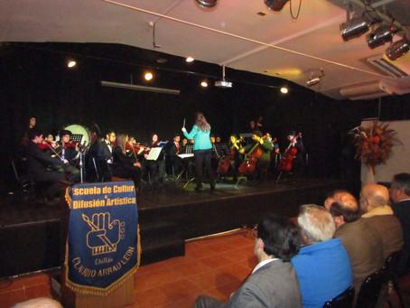 Orquesta Sinfónica Juvenil Claudio Arrau León en 77 Aniversario de Escuela Artística Chillán