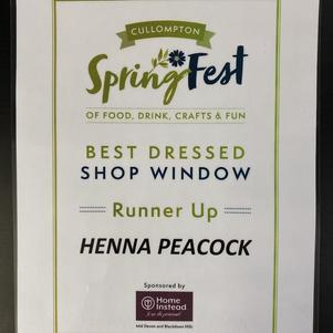 Best dressed window display- runner up award!