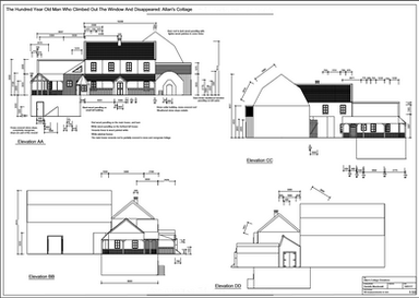 Allan's Cottage Elevations 1:50