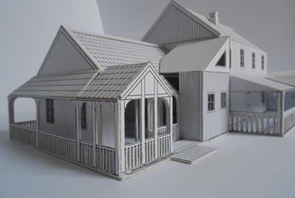 Allan's Cottage White Model 1:50
