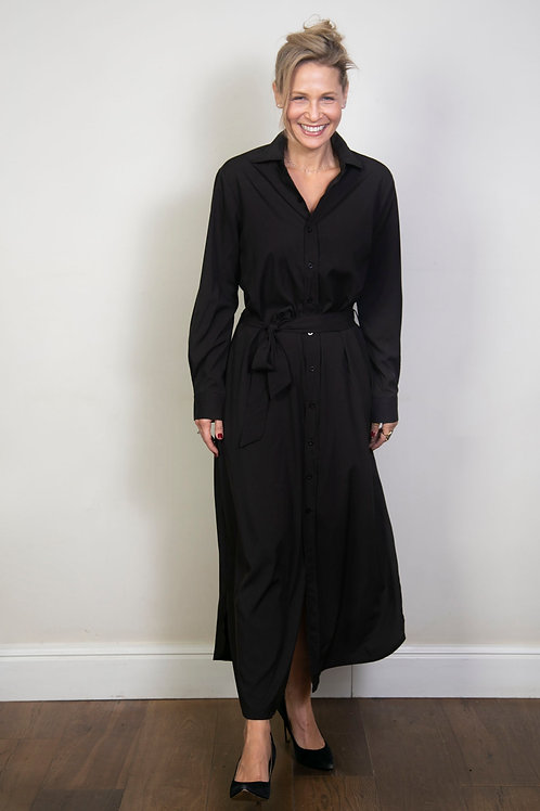 MEDDY שמלת גלביה שחורה