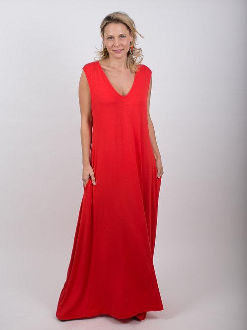 RED שמלת מקסי אדומה