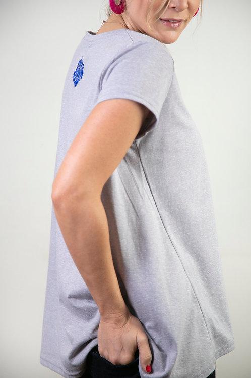 BLADE חולצה אפורה