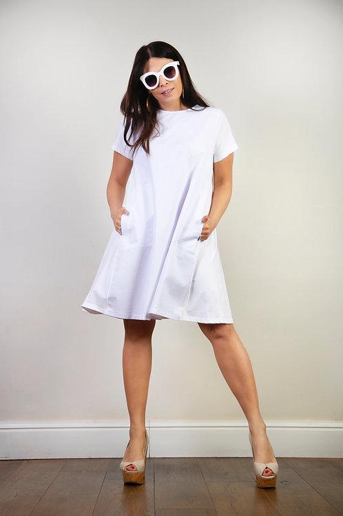 MADLEN שמלה לבנה