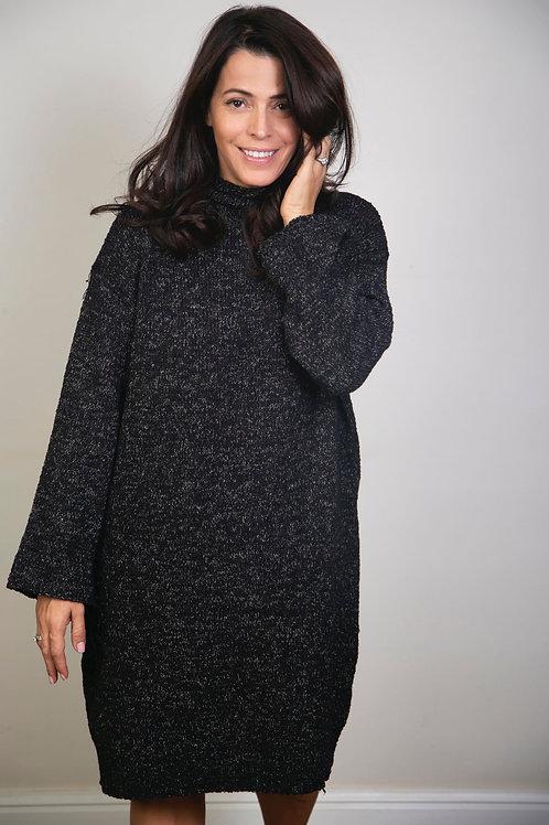 NOTE שמלת טוניקה סריג שחור