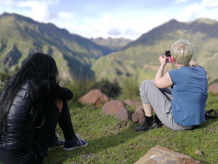 Sitting and reflecting on a mountain in Peru