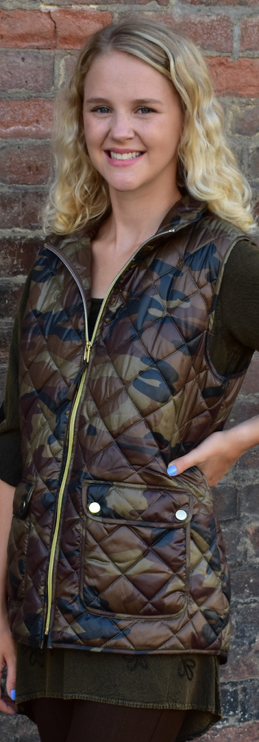 Quilted Synthetic Camo Vest