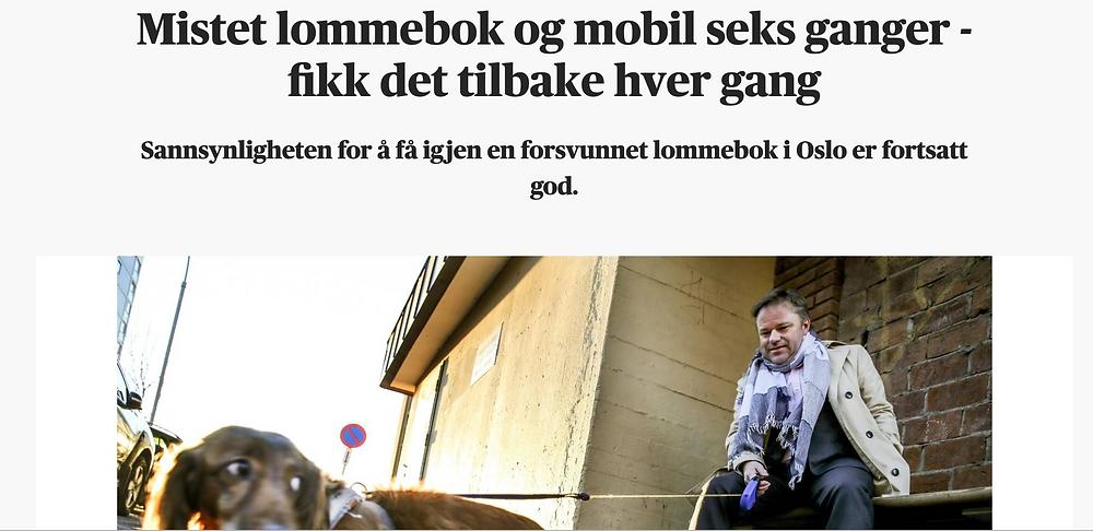 Intervju i Aftenposten med meg om ting jeg glemt, og fått tilbake