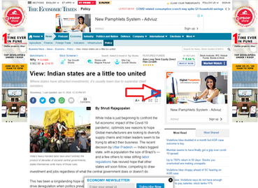 Ad spot on Economic Times