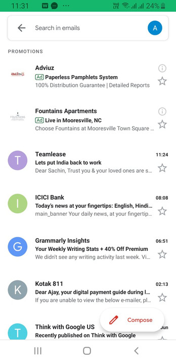 Ad Spot on Gmail