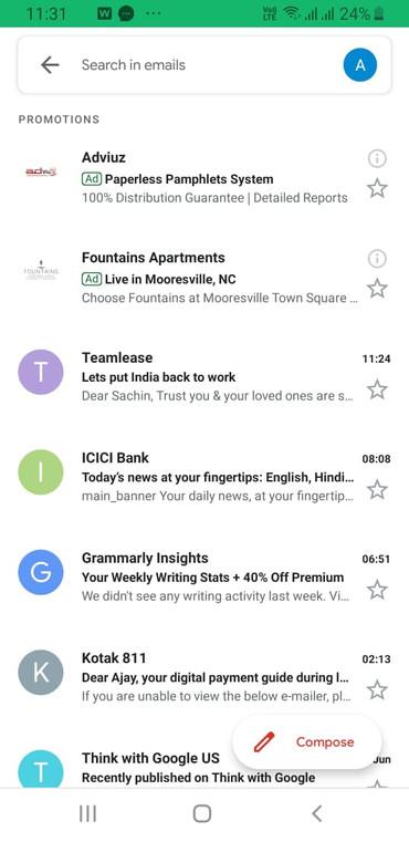 Ad Spot on Gmail