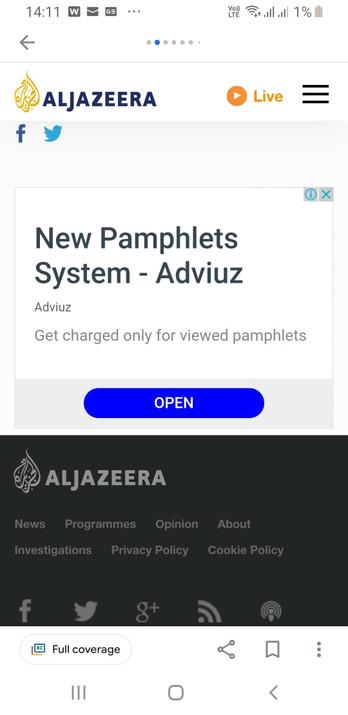 Ad spot on International News