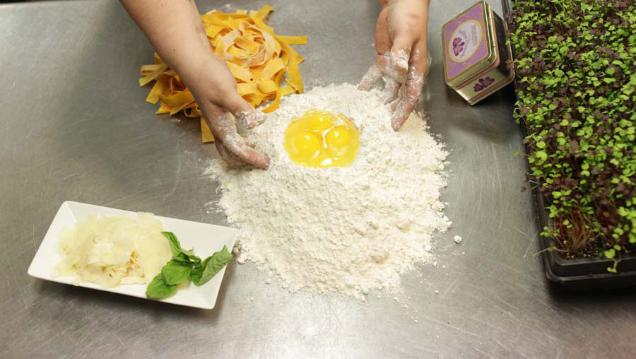 Fresh pasta made by hand in-house