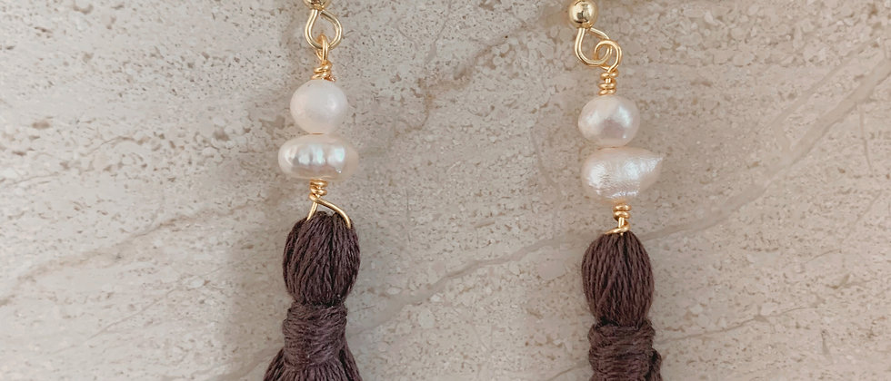 Fresh Water Pearl Tassel Earrings
