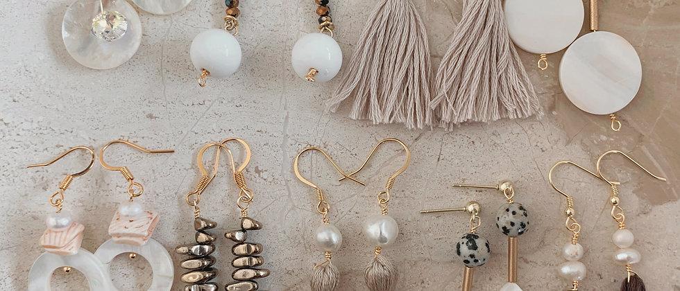 Swarovski Crystal & Mother Of Pearl 14k Earrings