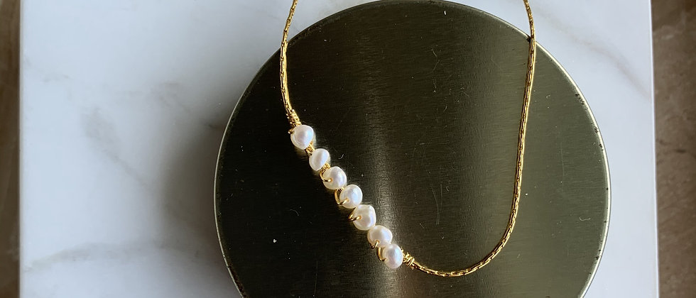 Freshwater Pearl 14k Gold Chain Necklace