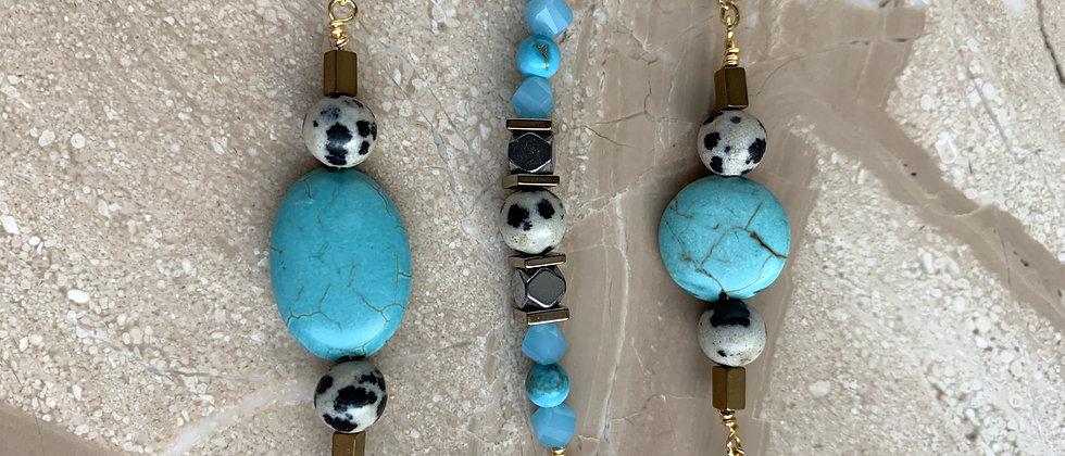 Oblong Turquoise & Dalmation Stone