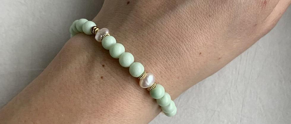Freshwater Pearl Bracelet in Mint