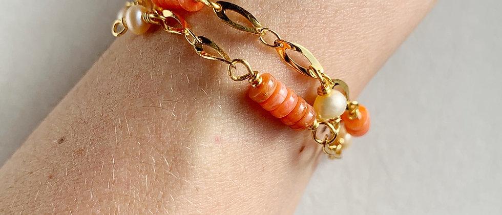 Vintage & Freshwater Pearls 14k Bracelet