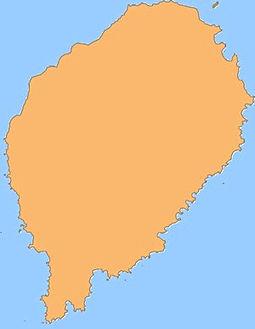 Carte mapa ilha de sao tome e principe