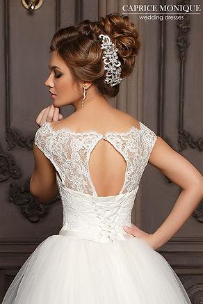Пышное свадебное платье с кружевной маечкой и объемной фатиновой юбкой