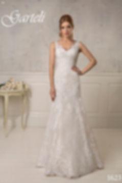 Кружевное свадебное платье силуэта русалка