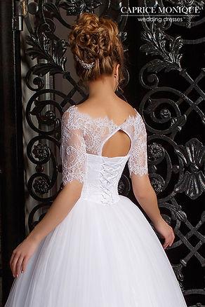 Пышное свадебное платье с нежной кружевной маечкой