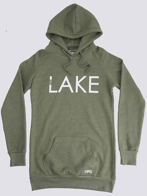 LAKE: Extra Long Fitted Hoodie