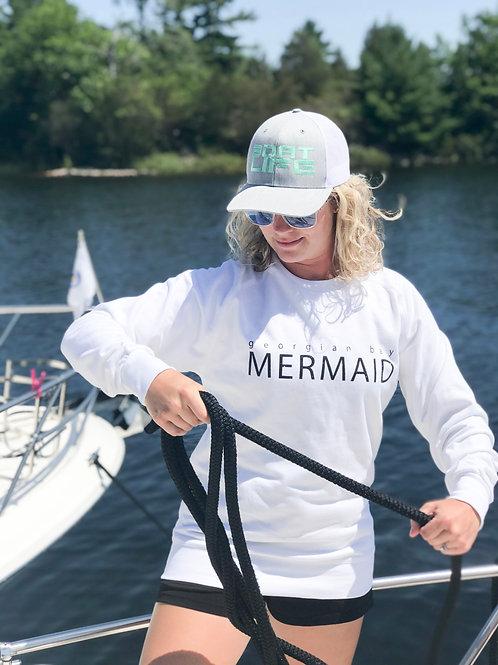 SAINT  LAWRENCE: Mermaid Crew Style Sweater White