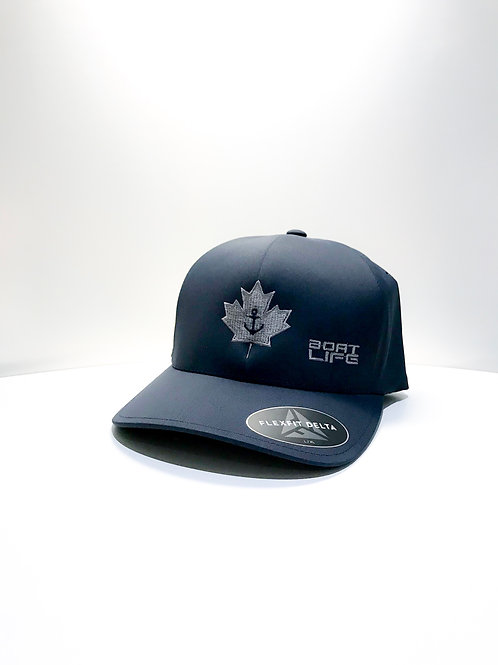 Navy Fullback with Embroidered Anchor Leaf