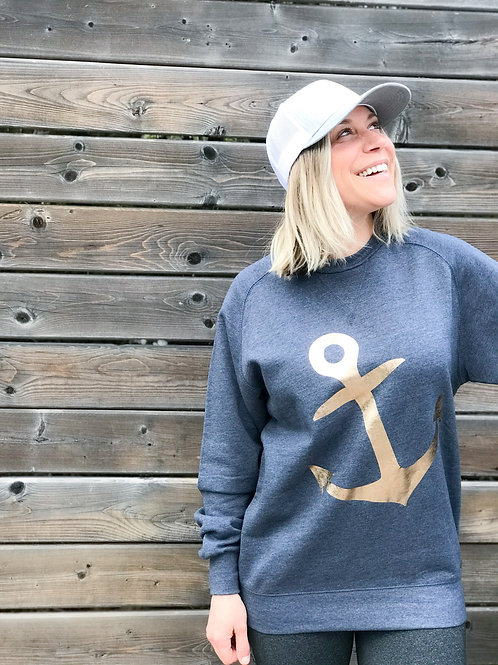 ANCHOR: Modern Fit Crew with Rose Gold Anchor