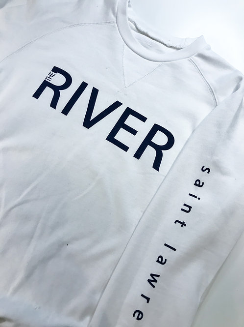 SAINT LAWRENCE: River Collection Crew Style Sweater White