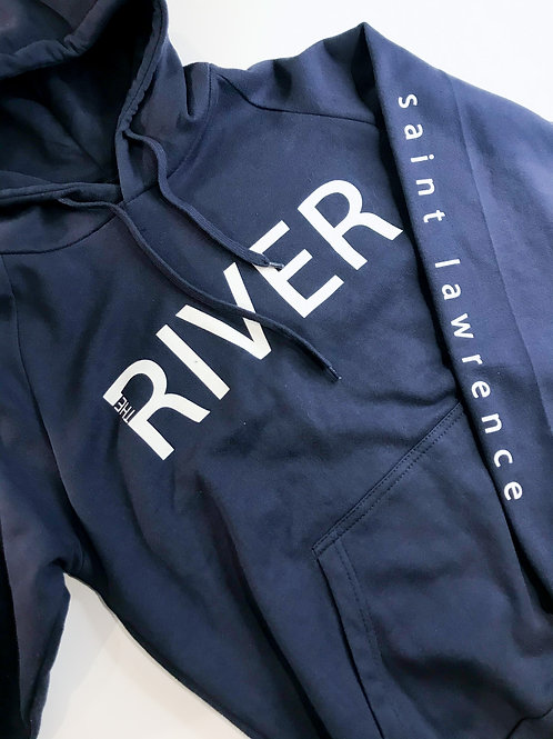 SAINT LAWRENCE: River Collection Hoodie Navy