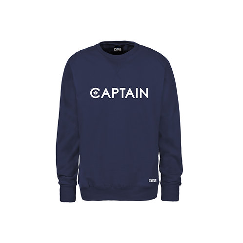 CAPTAIN: Navy Crew Style Sweater