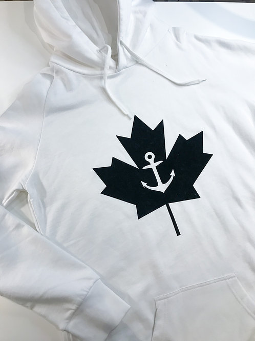 ANCHOR LEAF: Extra Long Fitted Hoodie