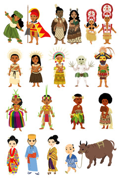 Ethnic Costumes of Pacific Islands