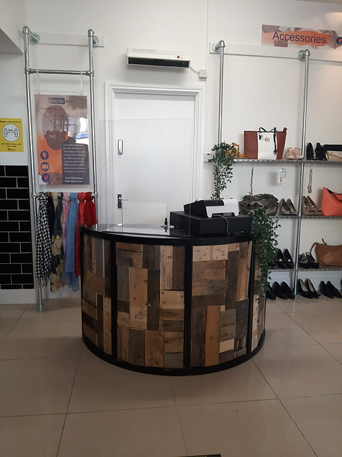 Sales Counter - Curved Repurposed