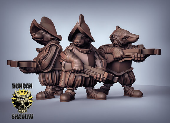 Badgers with Crossbows (pre supported)