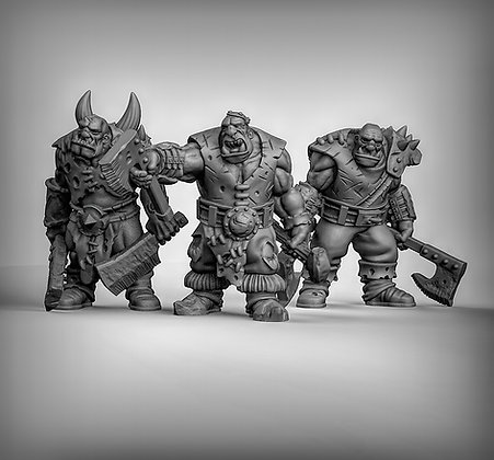 Ogres with Hand weapons